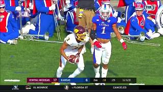 Central Michigan vs Kansas Football Highlights