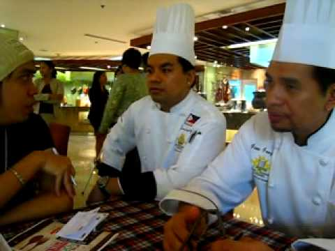 Interviewing the chefs...