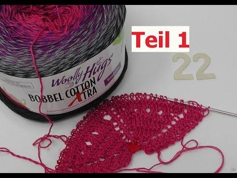 Tuch Herzeltage Einfach Stricken Teil 1 Bobbel Cotton Xtra Von Woolly Hugs