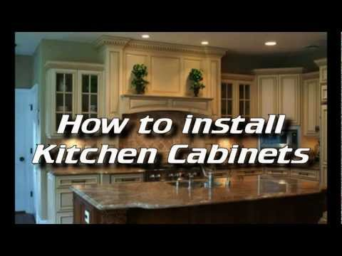 How To Install Kitchen Cabinets  - Installing Kitchen Cabinets