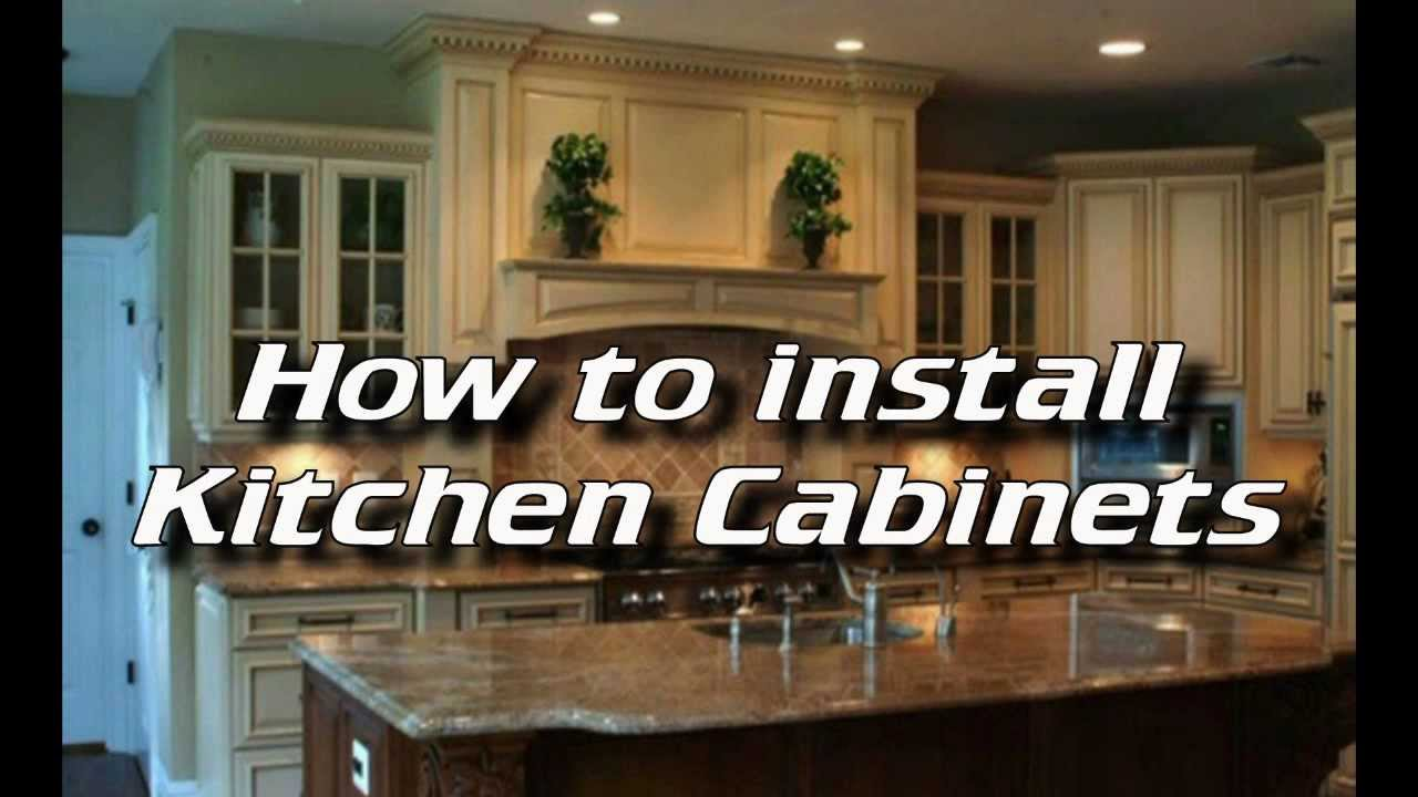 How To Install Kitchen Cabinets Installing Kitchen Cabinets YouTube - How to hang kitchen cabinets
