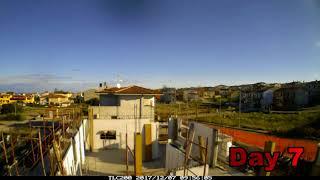 Time lapse 1-13 Cantiere ECOdomus Sardegna, Sistema Carbon ED SYSTEM