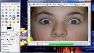 How To Remove Red-Eye Effect - Using Gimp