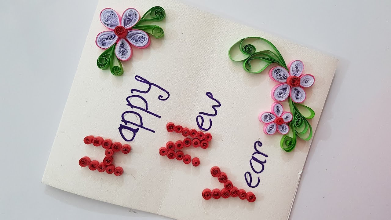beautiful handmade happy new year card awesome quilling