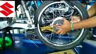 cara Mengatasi Bunyi Dan Menyetel Rem Tromol Motor Suzuki Shogun 125