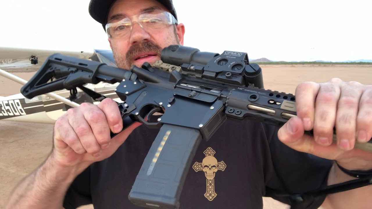 80% Bolt Together Stacked Frame AR-15 Lower Test Fire!