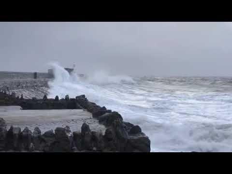 Storm Brian at Porthcawl Wales
