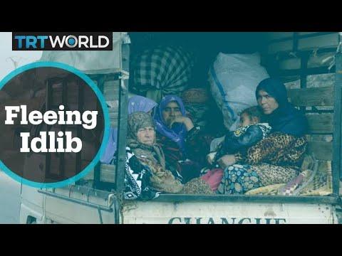 Idlib Battle: Thousands flee opposition-held area in Northwest Syria as regime advances