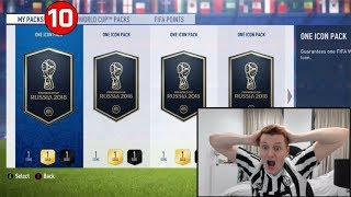 OMFG 10X GUARANTEED ICON PACKS!!! FIFA 18 World Cup Mode!