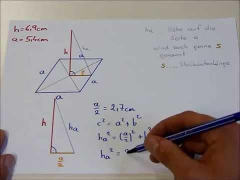 quadratische pyramide oberfl che volumen youtube. Black Bedroom Furniture Sets. Home Design Ideas