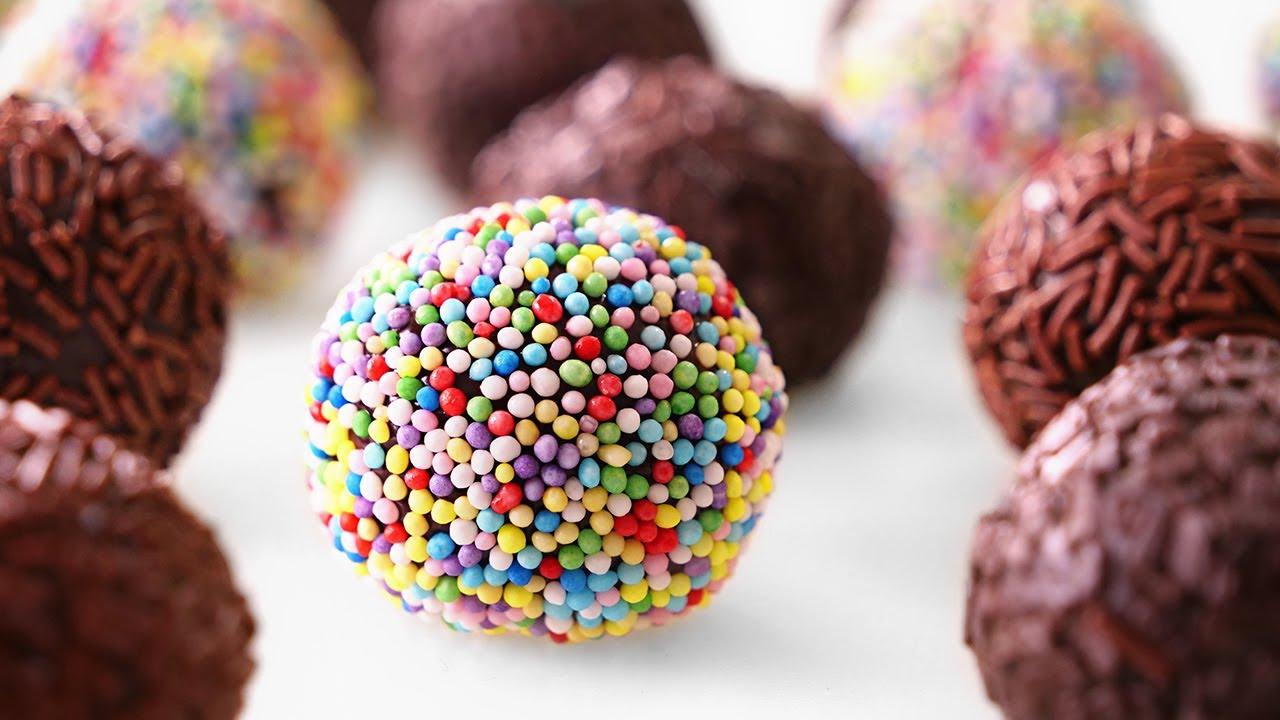 Brigadeiros de Chocolate muy Fácil con 3 Ingredientes y SIN horno