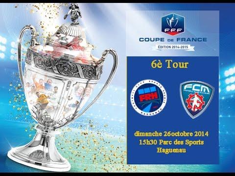 Coupe de France football 6ème Tour Haguenau FCSR - Mulhouse FC