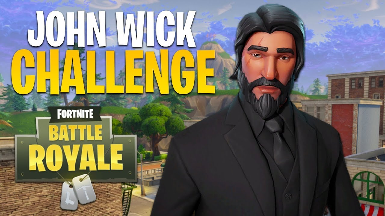 JOHN WICK CHALLENGE!! (Fortnite Battle Royale) - YouTube