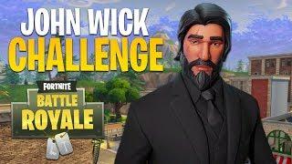 JOHN WICK CHALLENGE!! (Fortnite Battle Royale)