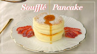 Souffle Pancake | Japanese Fluffy Pancakes | Step by Step instructions | スフレパンケーキの作り方