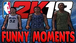 SO MUCH LAG!!!! (Nba 2K18 MyPark Funny Moments)