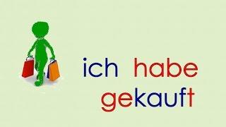 Deutsch lernen Grammatik 4: ich habe gekauft ...  Verben Vergangenheit