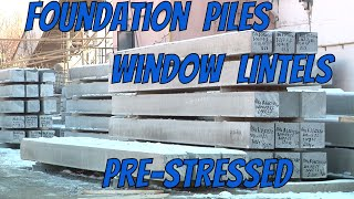 new Technology Pre-Stressed Foundation Piles and window lintels made with SlipFormer by weiler GmbH