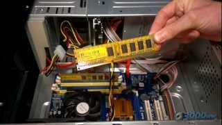 How To Upgrade / Replace / Change PC tower RAM Memory and Hard Drive