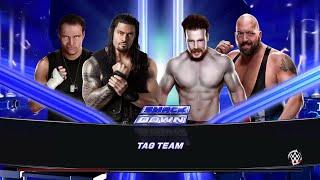 WWE 2K15- Roman Reigns & Dean Ambrose vs Big Show & Sheamus Tag Team Match 2015 (PS4)