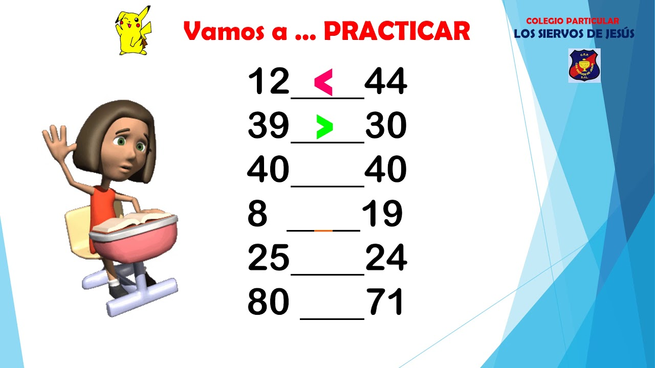 Matemática 2 Primaria Los Signos Mayor Menor E Igual Youtube