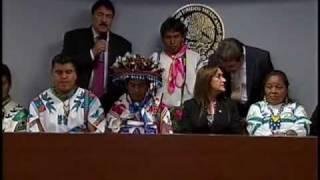 Conferencia de Prensa en el Senado Autoridades del Pueblo Wixárika (Huichol) 3de3