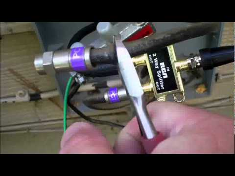 Dtv And Hdtv Part 9 Attic Antenna Install Part B Of