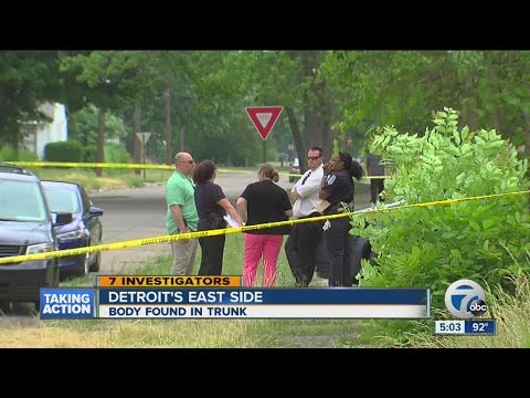 Teen finds body in trunk on Detroit