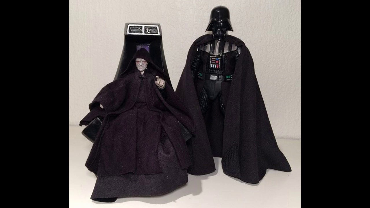 Star Wars Black Series - Custom Emperor Palpatine with Throne Figure Review - Closer Look & Star Wars Black Series - Custom Emperor Palpatine with Throne Figure ...