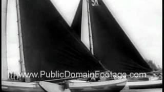 Sailing in Holland 1961 Newsreel PublicDomainFootage.com