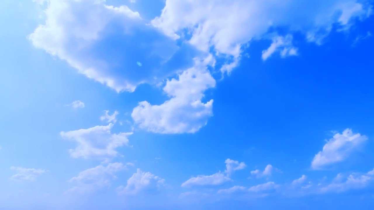 Video Backgrounds Hd Deep Blue Cloudy Sky Timelapse Free Intro Loop