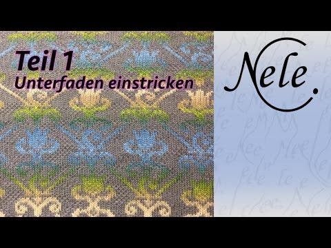 Unterfaden einstricken, zweifarbig stricken, Teil 1,DIY Anleitung by NeleC.