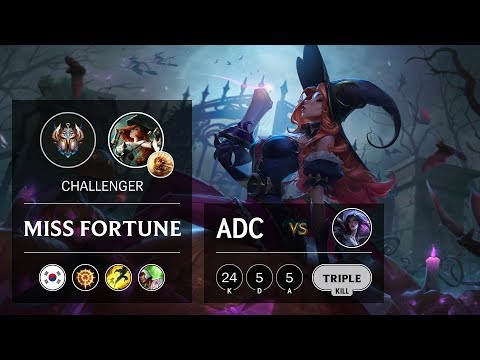 Miss Fortune ADC vs Kai'Sa - KR Challenger Patch 9.24
