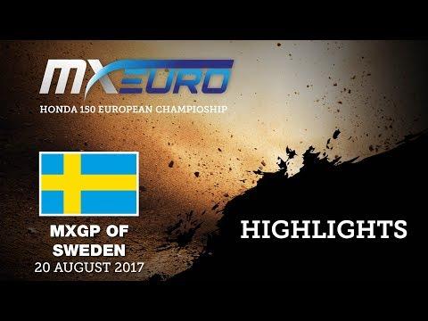 Honda EMX150 Race1 Highlights - MXGP of Sweden 2017