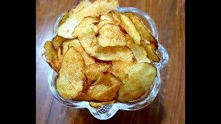 পটেটো চিপস্।।Homemade Potato Chips।।Crispy Thin Potato Chips।। Aloo Chips Bangla Recipe