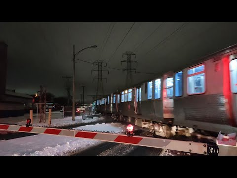 CTA Four-Car Yellow Line Trains - January 2021