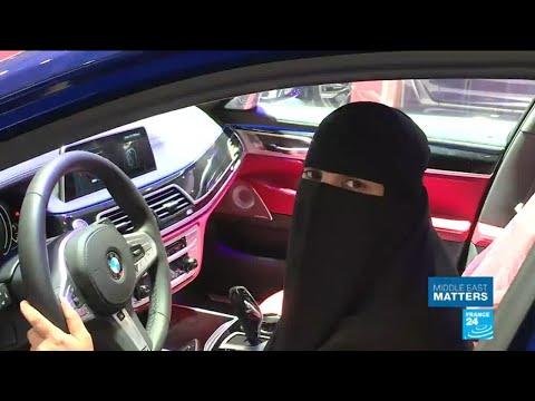 Saudi Women get behind the wheel at Riyadh car show