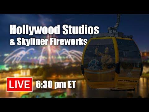 🔴 Live: Disney's Hollywood Studios & Skyliner Fireworks | Walt Disney World Live Stream