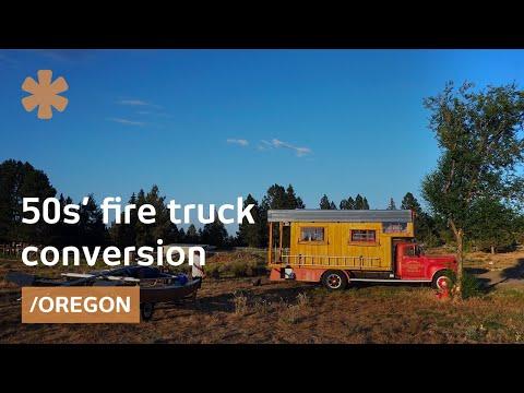 High desert life: pro snowboarder's '50s fire truck home