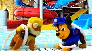 Щенячий Патруль – Крепыш и Чейз в Аквапарке! - Игры для детей.