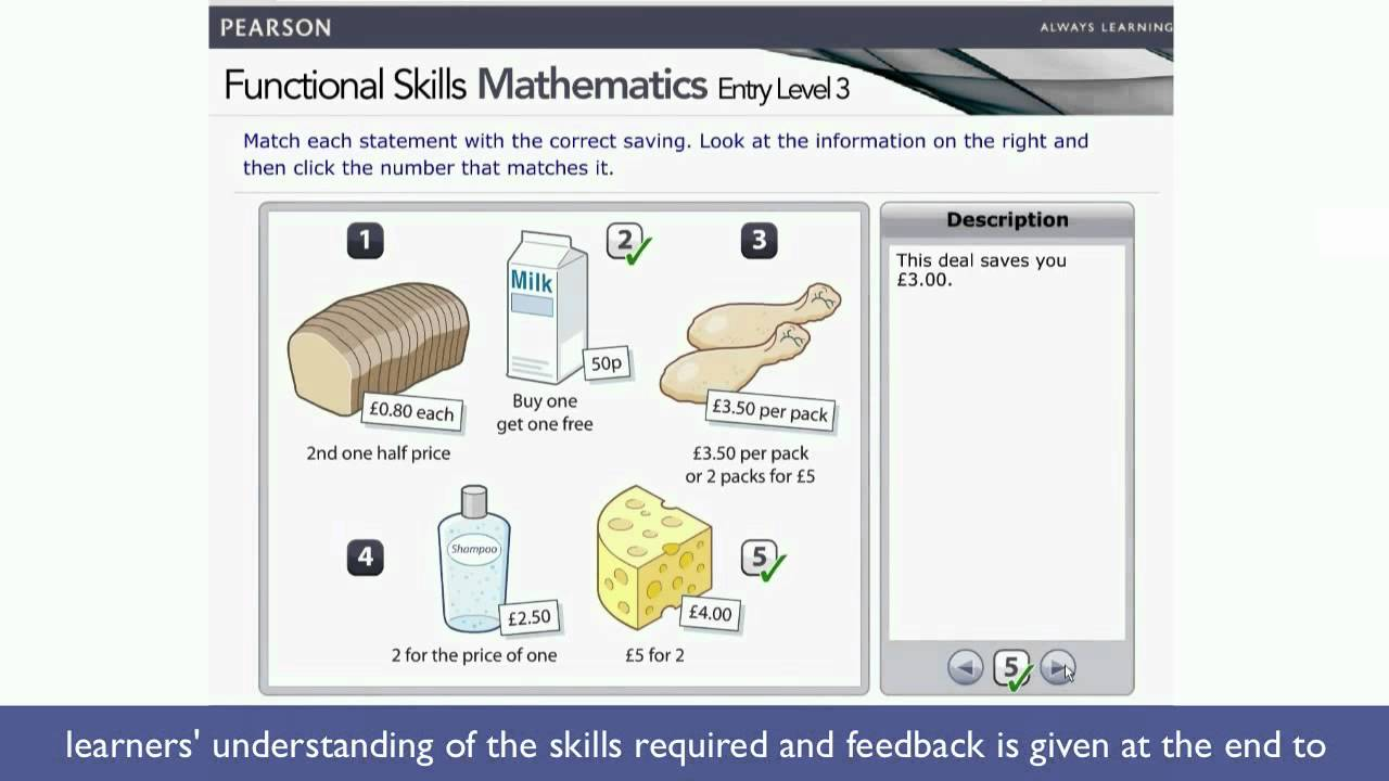 Functional Skills Mathematics Entry Level 3 demonstration video ...
