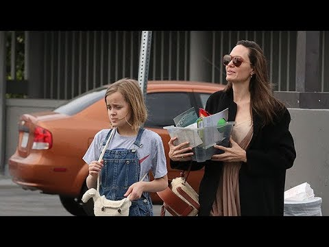 Angelina Jolie Takes Vivienne To Little Tokyo