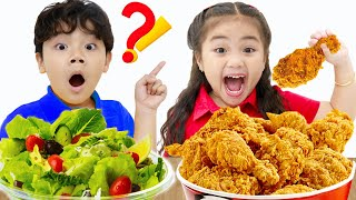 School Lunch Song   Sammy and Annie Pretend Play Sing-Along Nursery Rhymes Food Songs for Kids