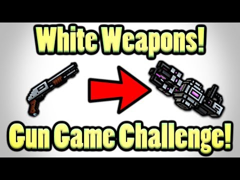 Pixel Gun 3D - All White Weapons Challenge! (Difficult!)