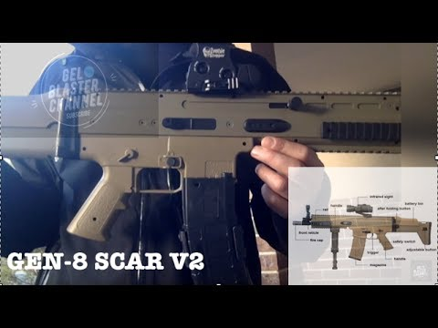 """NEW"" Jin Ming SCAR V2 ""GEN-8 GEARBOX ""GEL BLASTER REVIEW"