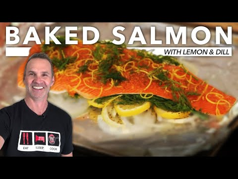 BAKED SALMON | Lemon and Dill | DADS THAT COOK