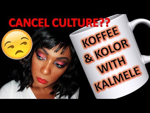 ☕ KOFFEE & KOLOR 🎨 WITH KALMELE!!  Pinky Rose Palettes!!  Cancel Culture?? thumbnail