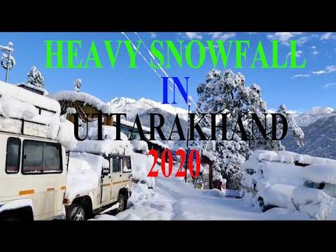Rudraprayag Snowfall Video 2020  Heavy Snowfall In The Uttarakhand  The Sachin
