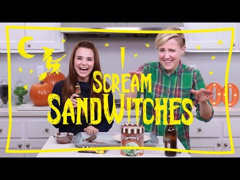 MY DRUNK KITCHEN: Ice Cream (sand)Witches  ft. Rosanna Pansino