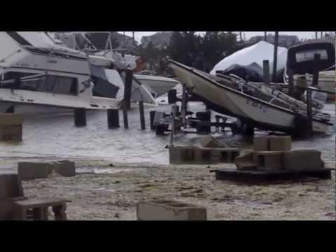 Hurricane Sandy, South Green st. Maritime Marine Tuckerton nj.